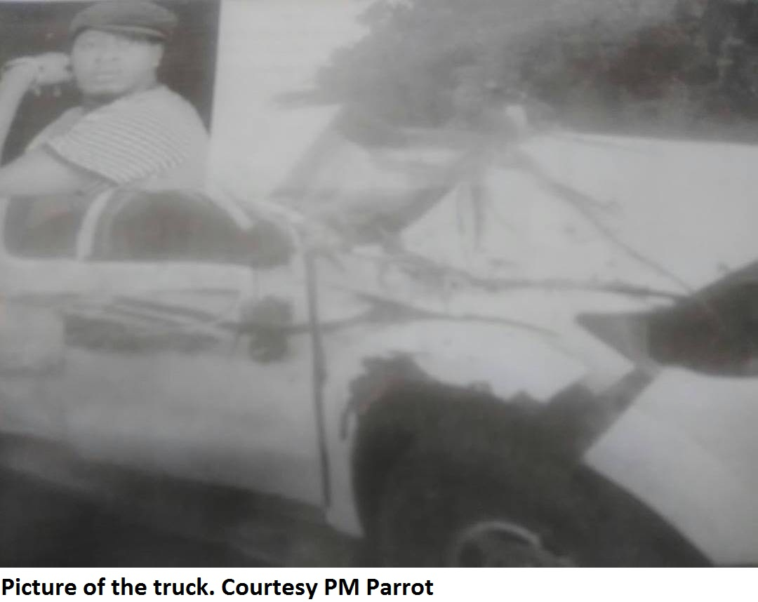 Taye Currency's Fatal Accident - Picture Of The Truck