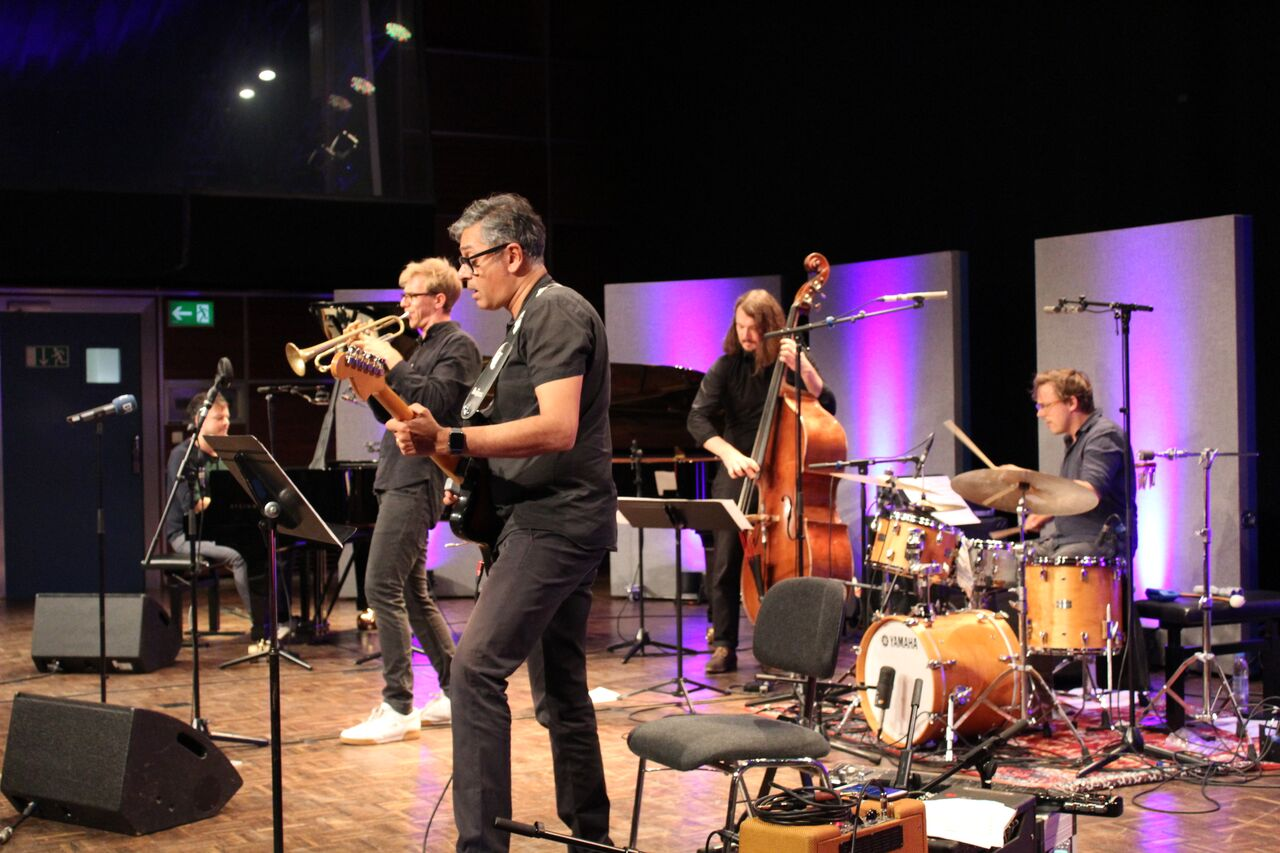 Mathias Lindermayr Quintet Performing At The Bavarian Broadcasting Studios Concert for Jazz From Germany Participants