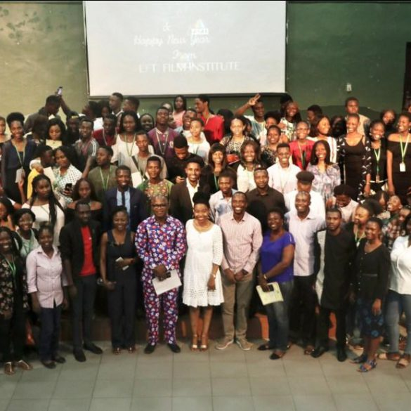 Reps of PEFTI Film Institute with Students of CU